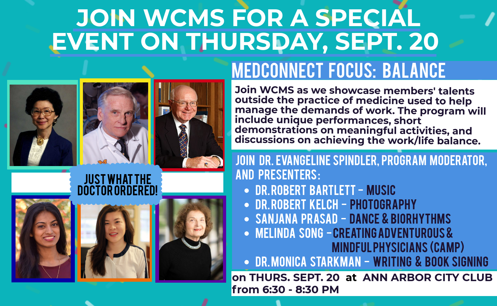 Balance - WCMS Event @ Ann Arbor City Club | Ann Arbor | Michigan | United States