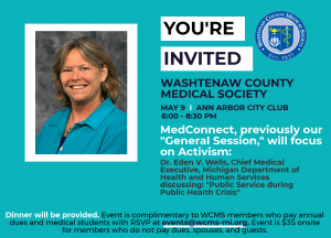 May 9 Event with Dr. Eden Wells