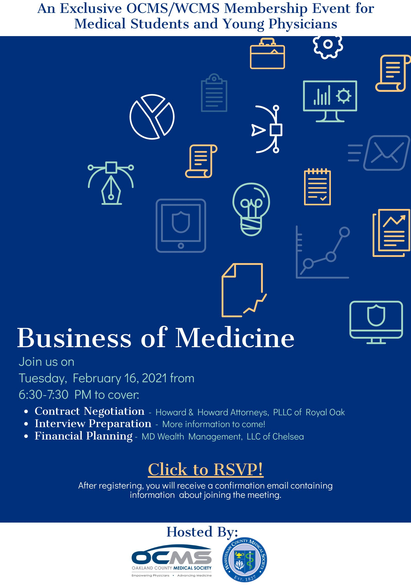 Business of Medicine: WCMS/OCMS Event for Medical Students and Young Physicians @ Virtual Meeting