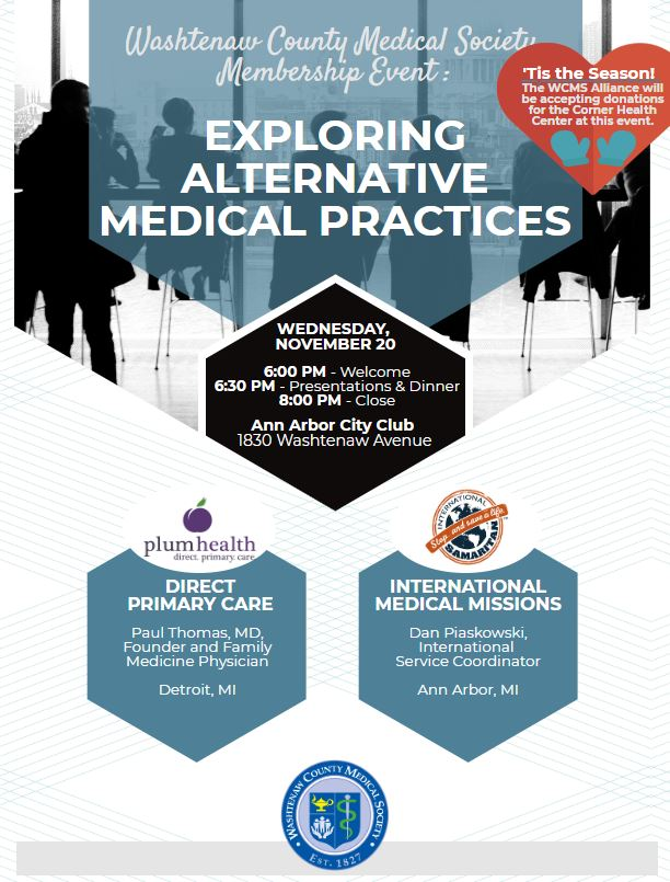 Membership Event: Exploring Alternative Medical Practices @ Ann Arbor City Club