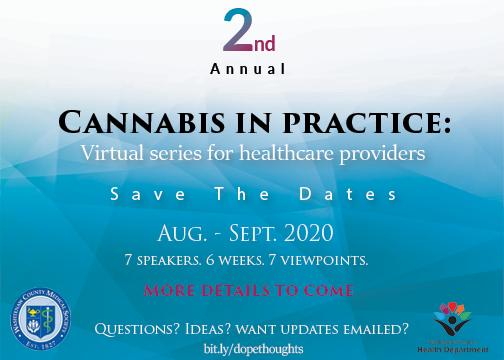 "Washtenaw County ""Cannabis In Practice"" Webinars"